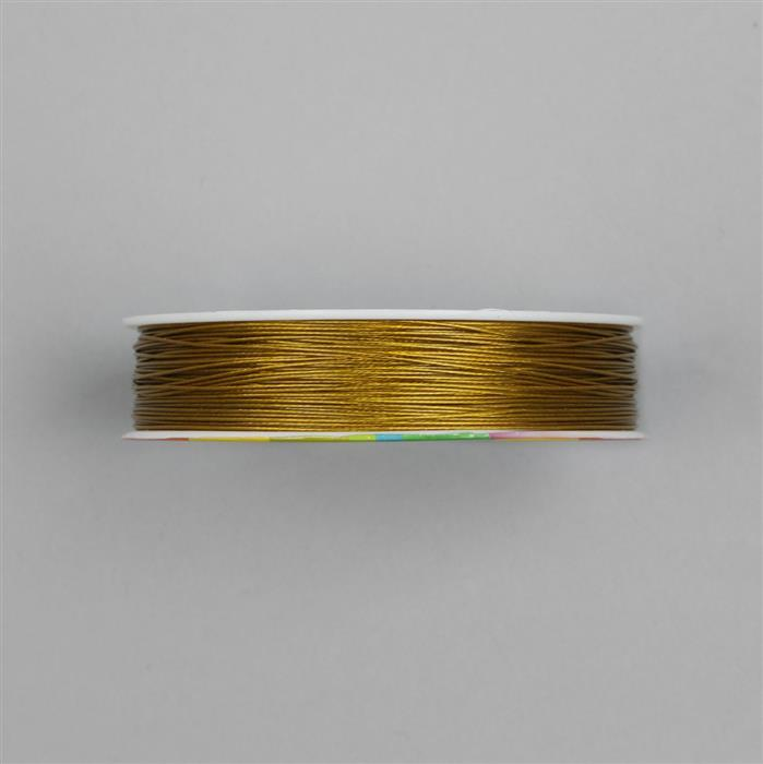 50m Gold Colour Stainless Steel  Beading Thread 0.5mm
