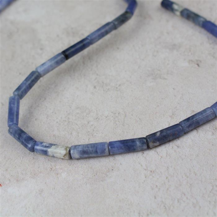 50cts Sodalite Tubes Approx 4x13mm, 38cm strand