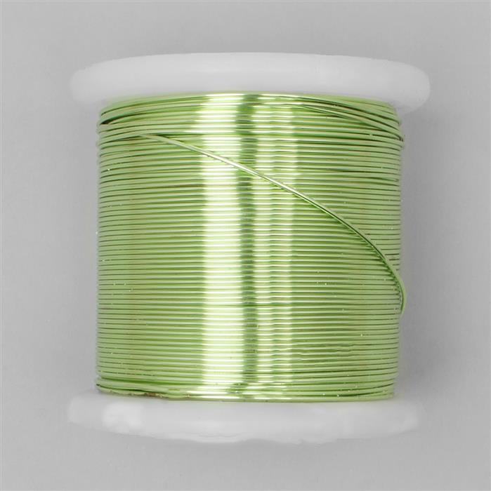 100m Chartreuse Coloured Copper Wire 1.0mm