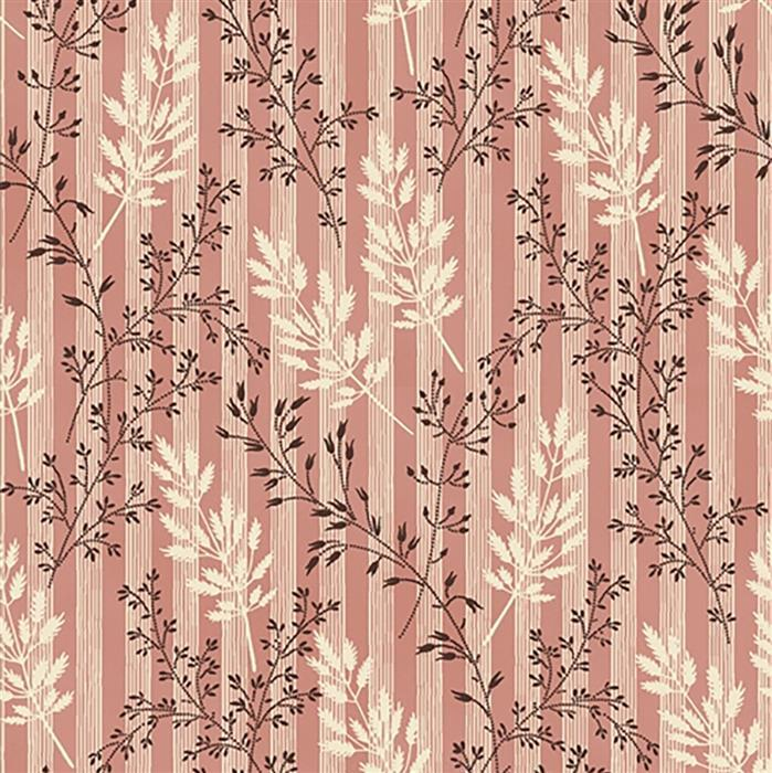 Wildflower Woods In Pink Wheat Fabric 0.5m