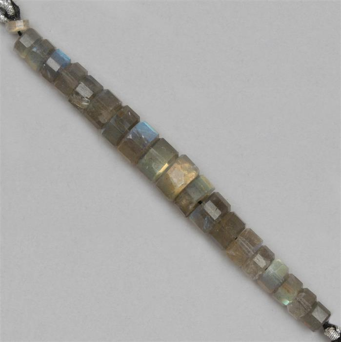 60cts Labradorite The Passo Collection Approx 4x2 to 9x5mm, 8cm Strand.