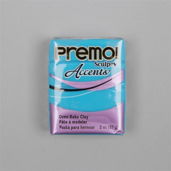 Premo! Sculpey Accents Polymer Clay Blue Translucent 57g