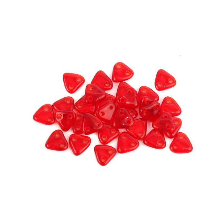 Triangle Siam Ruby Beads 6mm (9GM/TB)