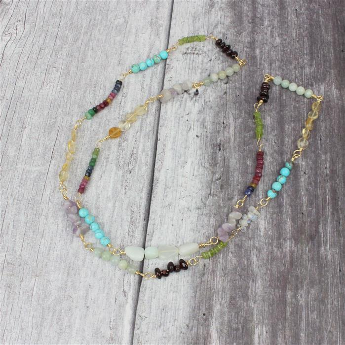 Birthstone Collection: A/W INC Garnet, Amethyst, Citrine, Aquamarine, Turquoise & Wire