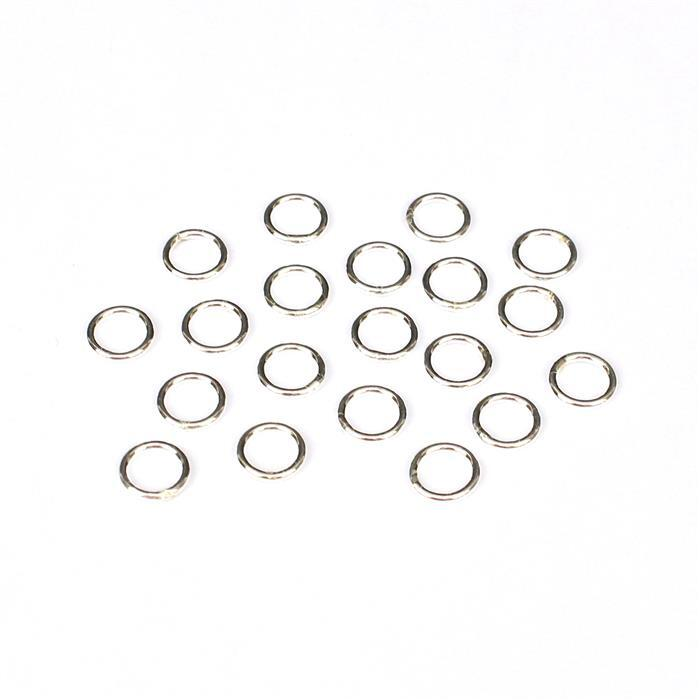 925 Sterling Silver Closed Jump Rings Approx ID 5mm, OD 7mm (20pcs)