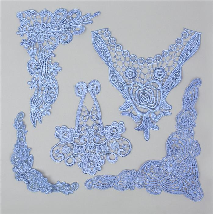 Wisteria Filigree and Floral Lace Bundle (5pcs)