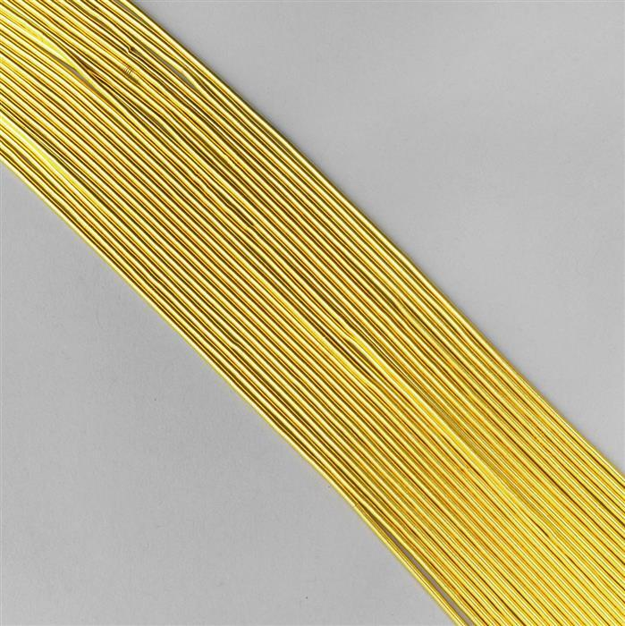 "12"" Gold Coloured Silver Plated Copper French Wire Approx 0.70mm (20pcs)"