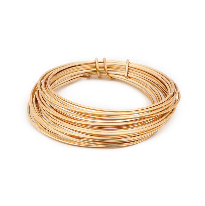 3m Champagne Gold Coloured Copper Square Wire Approx 1.00mm