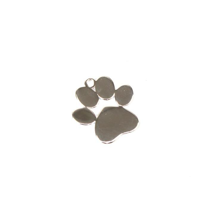 925 Sterling Silver Paw Pendant Approx 20x21mm