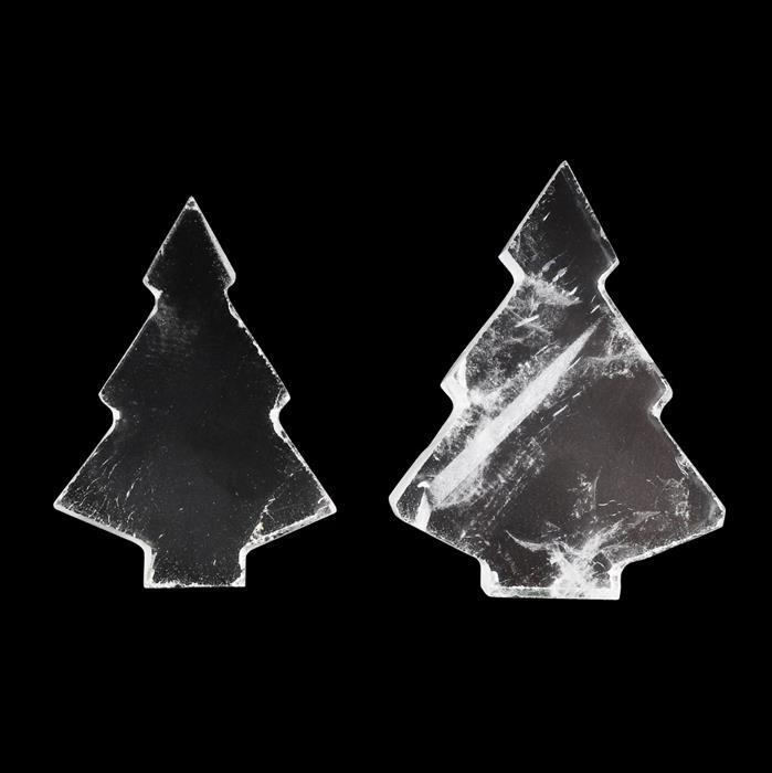 85cts Clear Quartz Plain Christmas Tree Shape Gemstones.Approx 23x34-28x40mm(Pack of 2)