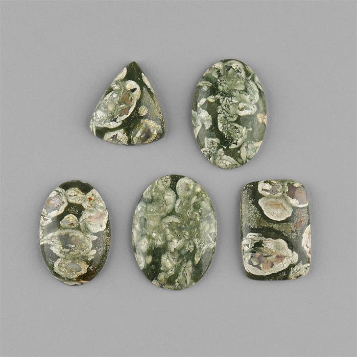 180cts Rhyolite Multi Shape Cabochons Assortment.
