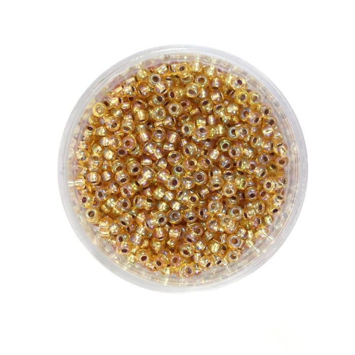 Miyuki Silver Lined Gold AB Seed Beads 8/0 (22GM/TB)