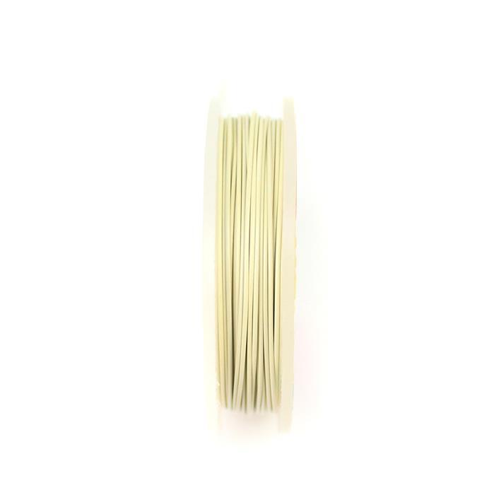 10m Silver Plated White Pastel Wire 0.8mm