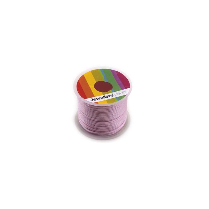 1mm Light Pink Satin Cord, 10m Spool
