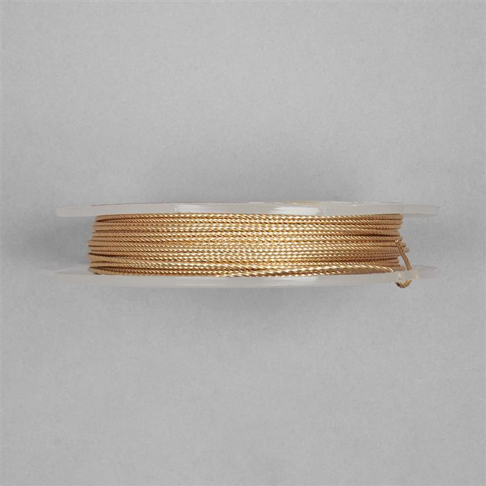 10m Champagne Gold Coloured Silver Plated Twisted Copper Wire 1.00mm