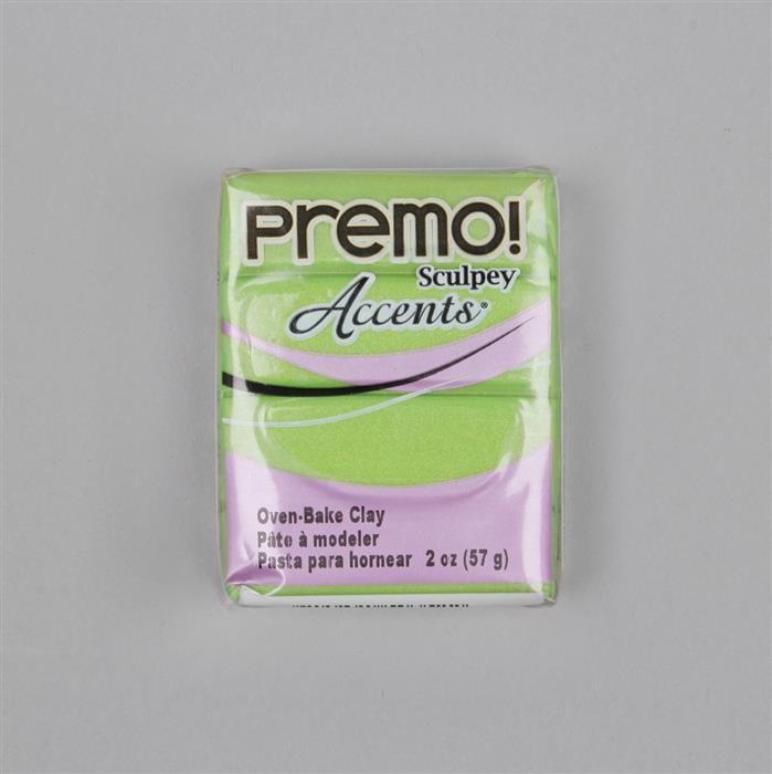 Premo! Sculpey Accents Polymer Clay Bright Green Pearl 57g