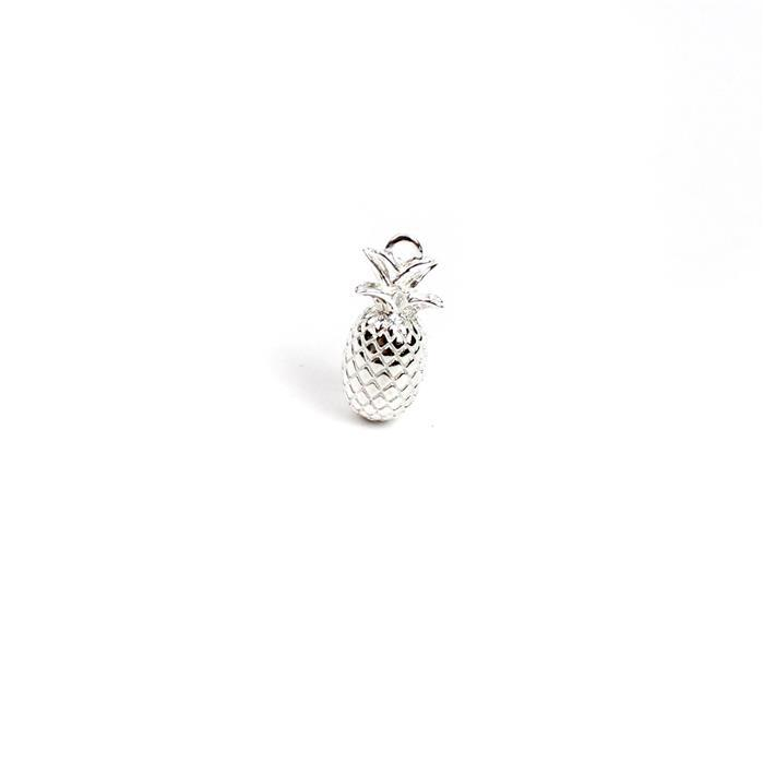 925 Sterling Silver Pineapple Charm Approx 17x7mm (1pc)