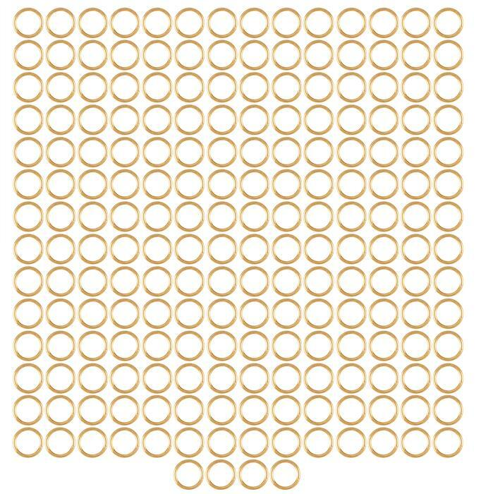 Champagne Gold Colour Plated Copper Open Jump Rings ID Approx 7mm. (Approx 200pcs)