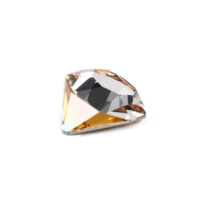 Swarovski Tilted Chaton Fancy Stone 4928 Crystal Copper F 18mm 1pk
