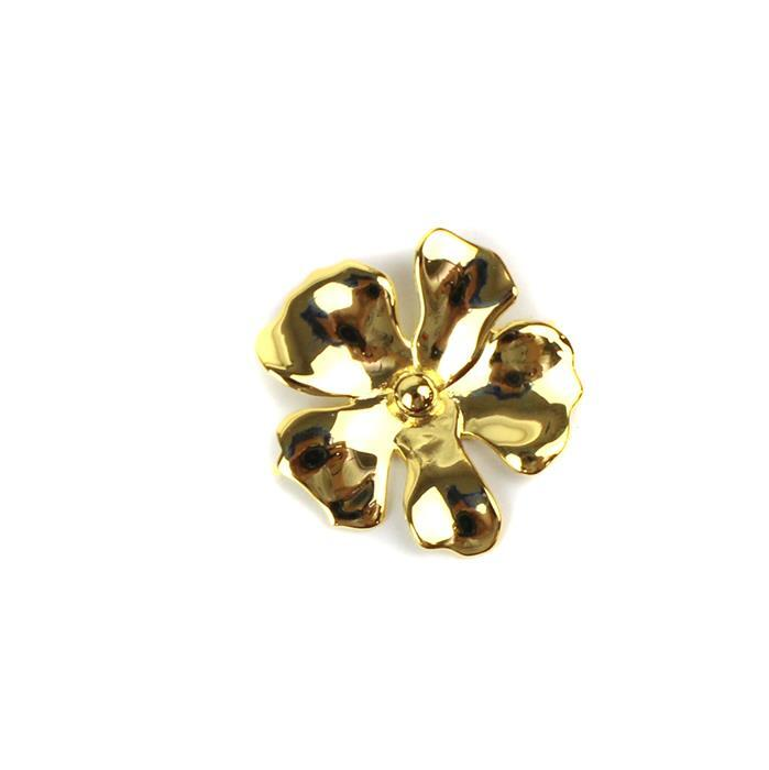 Gold Plated 925 Sterling Silver Daisy Flower Necklace Connector Aprrox 23mm,1 pcs