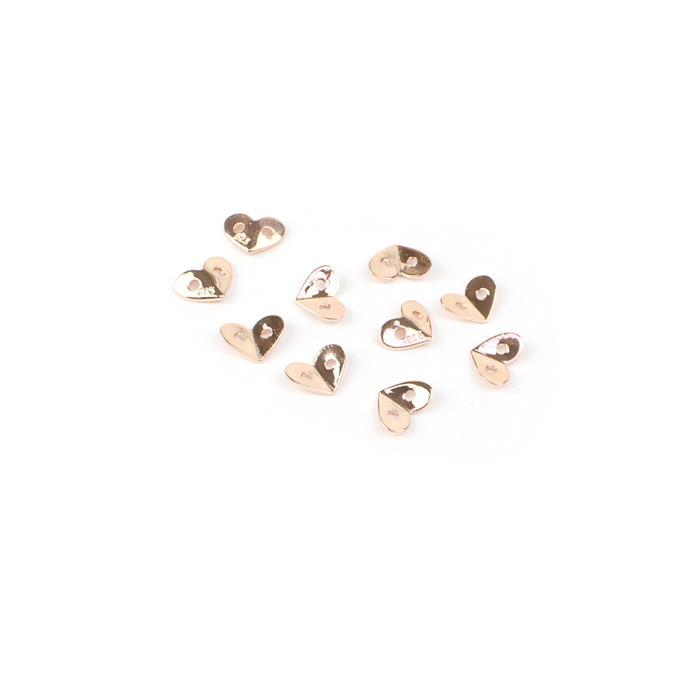 Rose Gold Plated 925 Sterling Silver My Heart Collection Spacers Approx 8x6mm 10pk