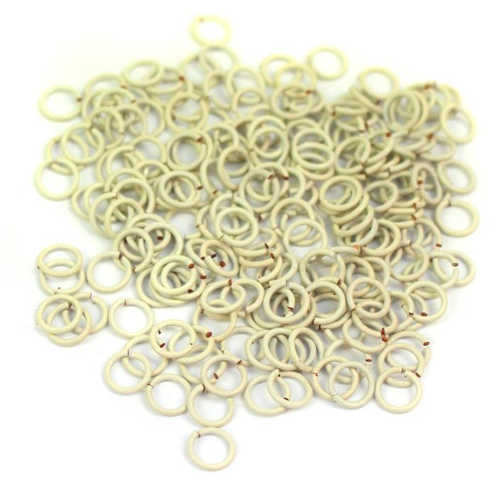 White Pastel Coloured Copper Open Jump Rings Approx 5mm ( 200 pcs )