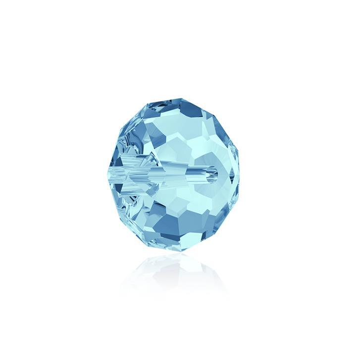 Swarovski Crystal Aquamarine Briolette Beads - 8mm, 6pk