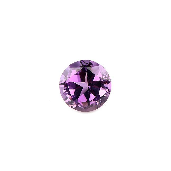 6cts Amethyst Lone Star Cut Round 12mm.