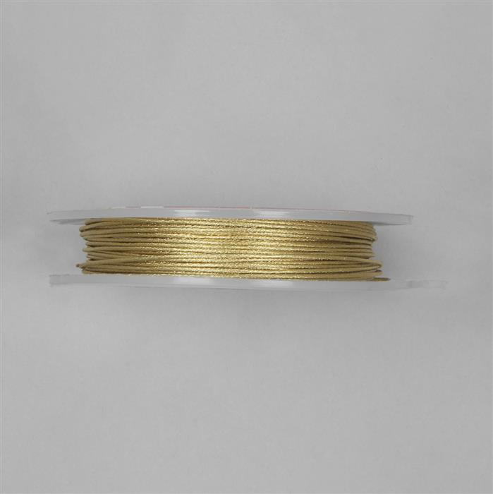 10m Gold Coloured Patterned Copper Wire Approx 1.00m
