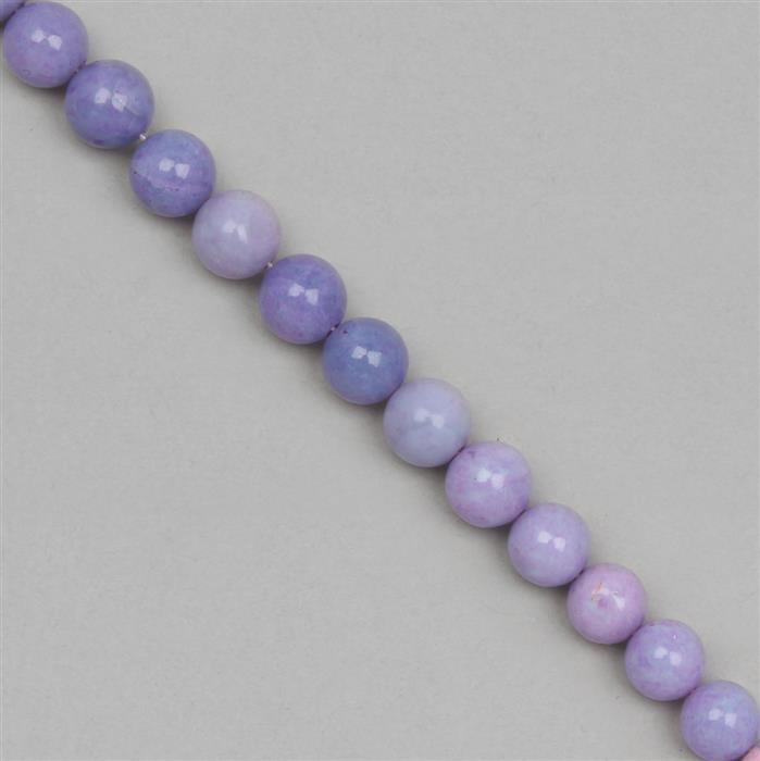 60cts Lavender Opal Plain Rounds Approx 7mm, 18cm Strand.