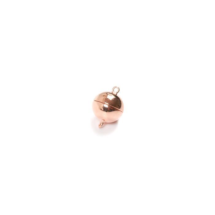 Rose Gold Plated 925 Sterling Silver Magnetic Clasp - 10mm (1pc)