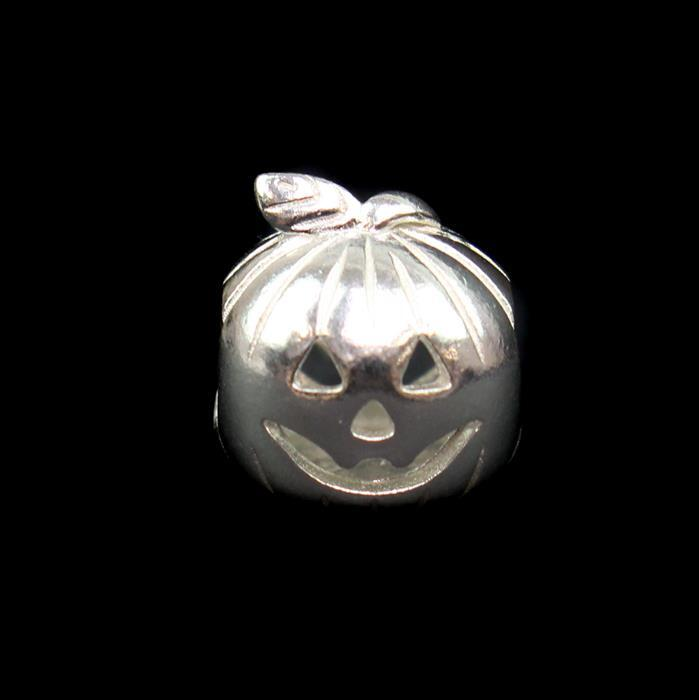 925 Stering Silver Pumpkin Spacer Bead Approx 11mm, 1pcs