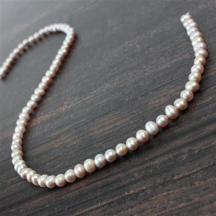 Lavender Freshwater Cultured Potato Pearls Approx 5x6mm, Approx 38cm Strand