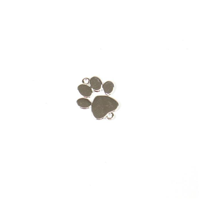 925 Sterling Silver Paw Connector Approx 13x16mm