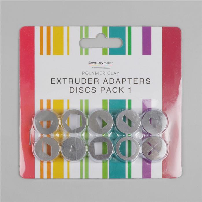 Polymer Clay Extruder Adapters Discs Pack 1