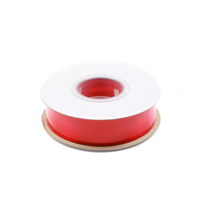 20m Red Double Faced Satin Ribbon, Width Approx 25mm