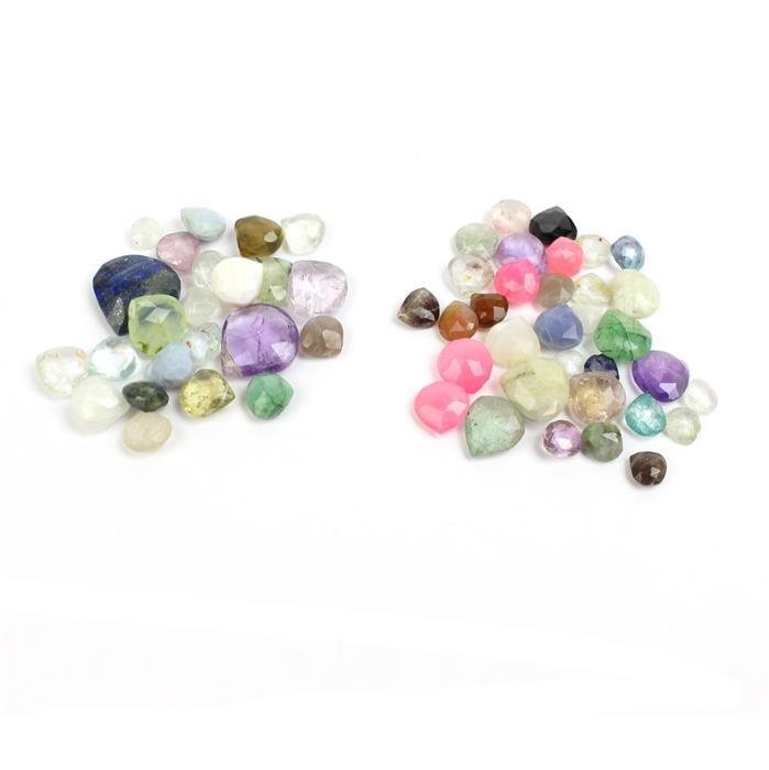 290cts 145cts Multi Gemstone Faceted Pears Assortment.