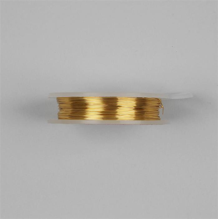 10m Gold Colored Silver Plated Copper Wire 0.6mm