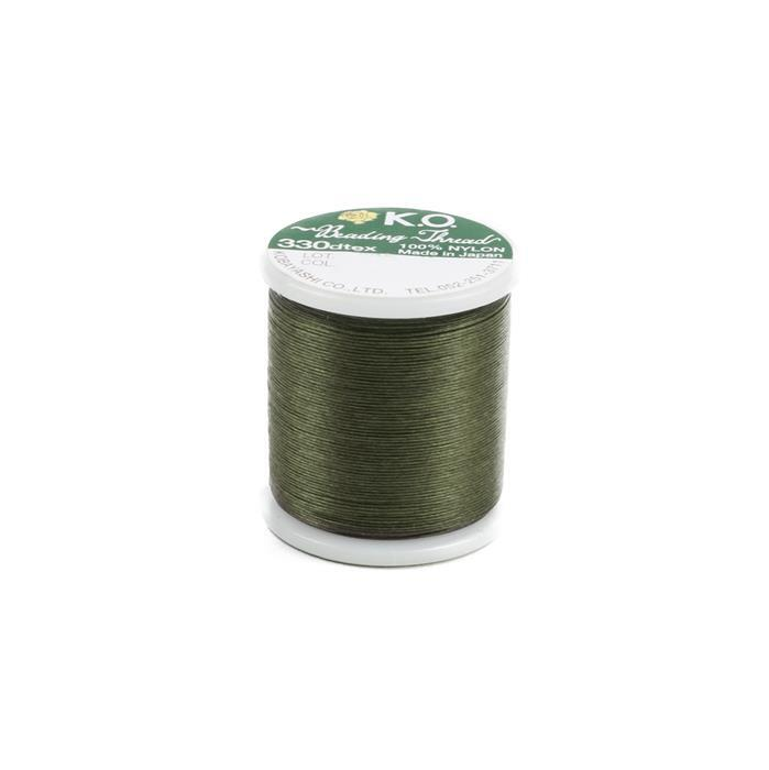 KO Beading Thread Olive Approx 50m