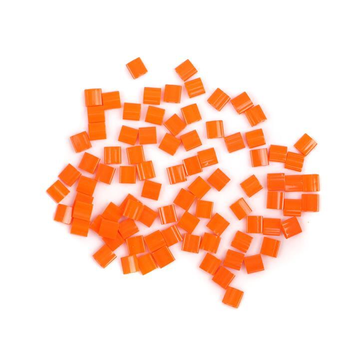 Miyuki Tila Opaque Orange Beads Approx 5x5mm (7.2GM/TB)