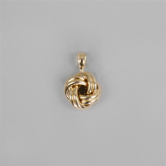 Gold Plated Sterling Silver Knot Pendant Approx 12mm with 6x3mm Bail.