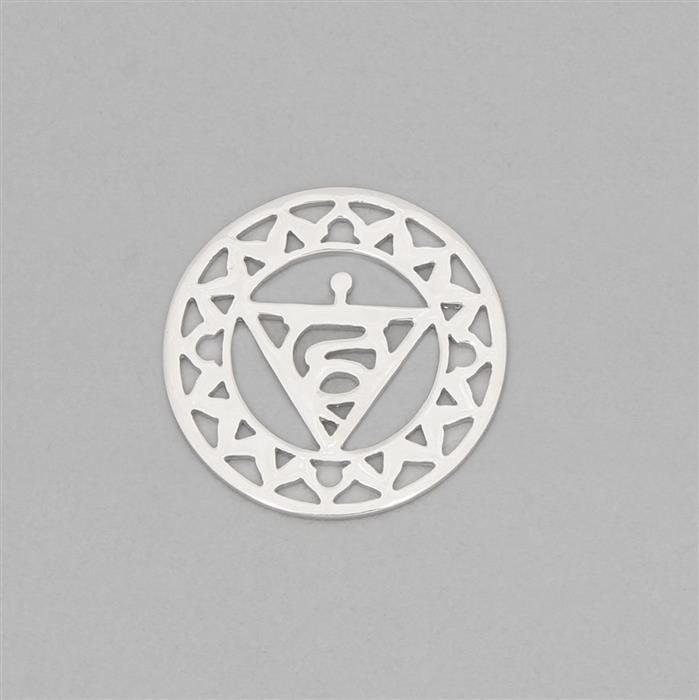 925 Sterling Silver Ether Chakra Connector Approx 23mm