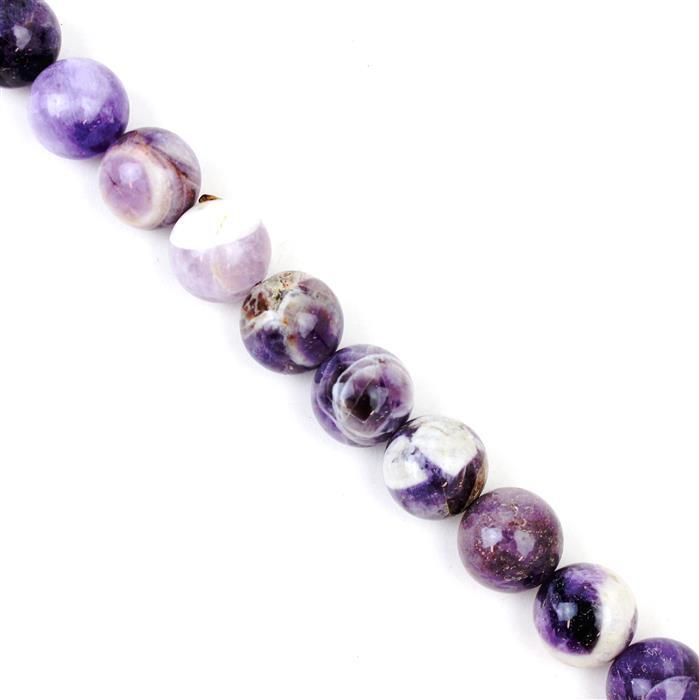 490cts Marble Amethyst Plain Rounds Approx 14mm, Approx 38cm/strand