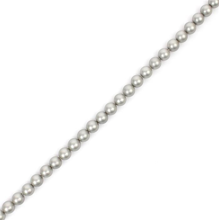Moonlight Matt Shell Pearl Plain Rounds Approx 4mm, 38cm length