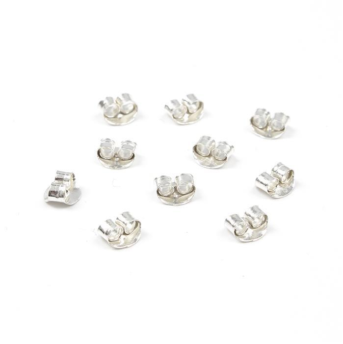 Sterling Silver Butterfly Backs - 5mm (10pcs/pk)