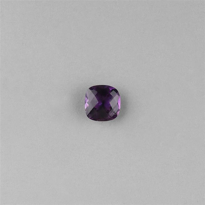 5.5cts Amethyst Rose Cut Cushion 12mm.