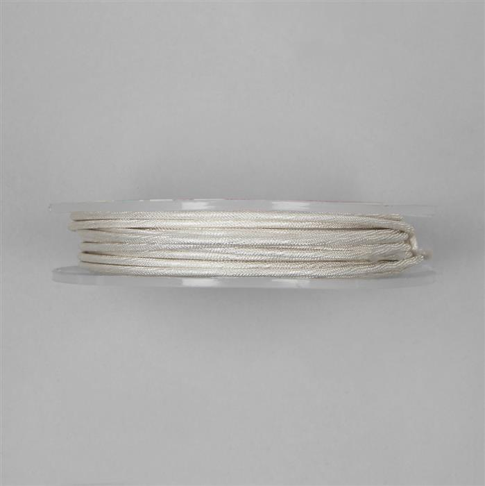 5m Silver Plated Moroccan Patterned Copper Wire Approx 2.00mm