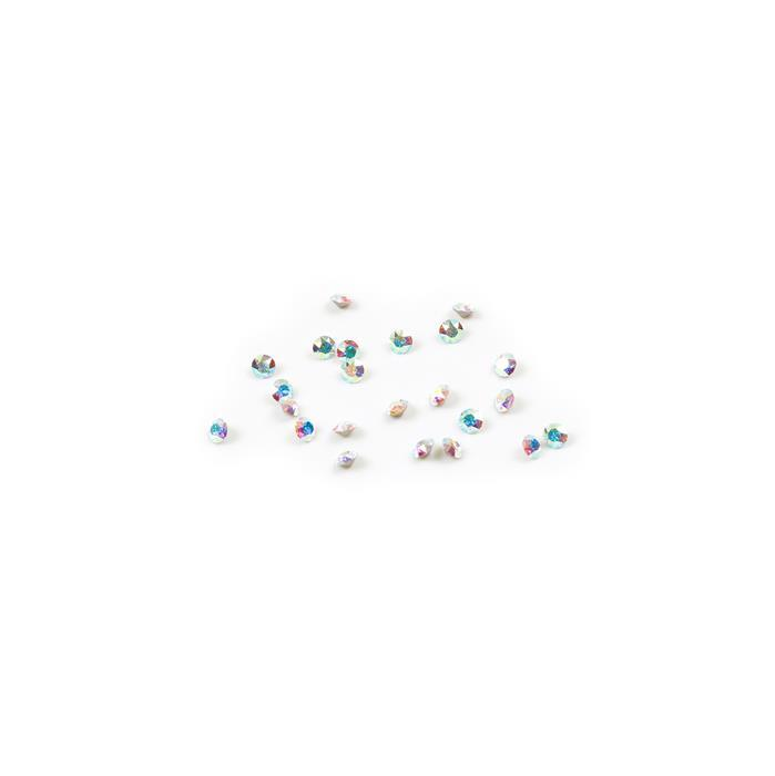 Swarovski Crystal Rounds, 3mm, Crystal AB, 24pk