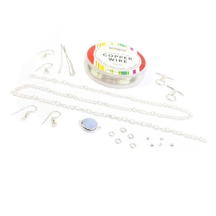 Silver Wire Writing Kit: 0.8mm Wire, Findings & Bezel Connector