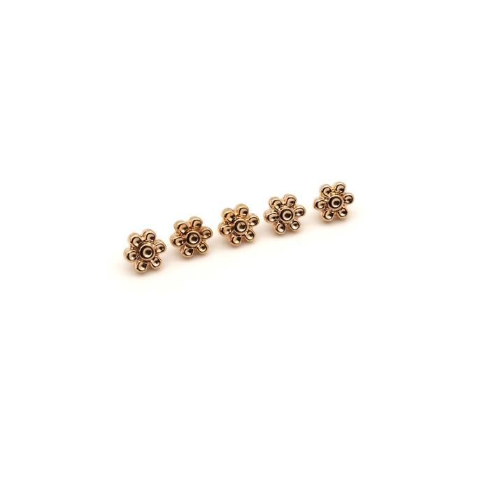 Cymbal Amoudi 8/0 Bead Sub Rose Gold Plated (5pk)